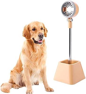 OWSTAR Acero Inoxidable Pet secador de Pelo Perro/Artículos de temática de Gatos secador Piso Soporte Ropa/Pelo Sopladores 180 ángulo Giratorio (Pequeño)