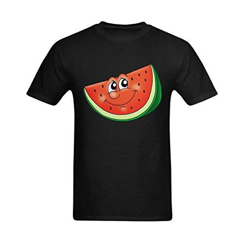 Express Apparel Mens Wholesale - Fashion-In Men's Cute Watermelon Expresses Her Affection Art Design T-Shirt - Nerd Tee Shirt US Size 2XL