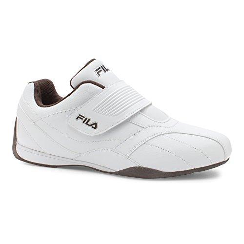 Fila Mænds Mach T Syntetisk Mode Sneakers Hvid, Espresso, Metallisk Sølv