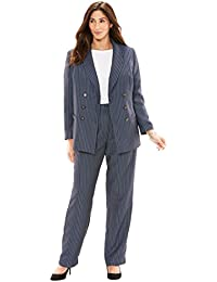 Women's Plus Size Double-Breasted Pantsuit