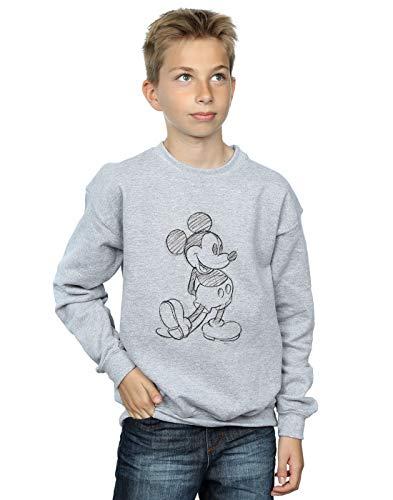 shirt Kick Gris Disney Sketch Sweat Mouse Sport Mickey Garçon 7q17wCpxTY