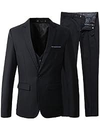 Men's Slim Fit Suit Blazer Jacket Tux Vest Pants 3 Pieces Suit Set