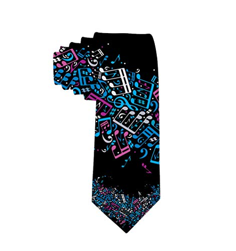 INWANZI Men's Novelty Fashion Necktie Music Musical Notes Tie for Wedding/Party/Office/Gift
