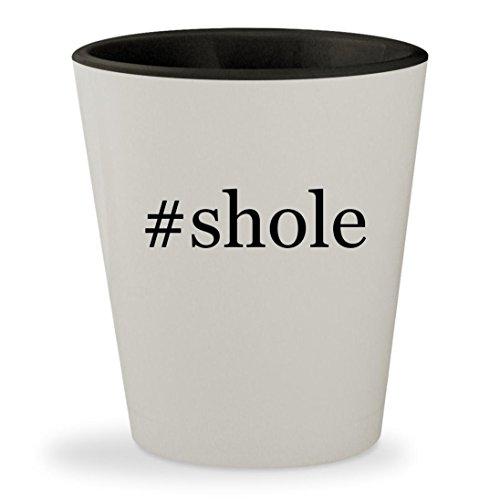 Price comparison product image #shole - Hashtag White Outer & Black Inner Ceramic 1.5oz Shot Glass