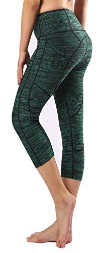 Munvot Women's Capri Workout Pants Yoga Capri Leggings with Side Pocket L For Sale