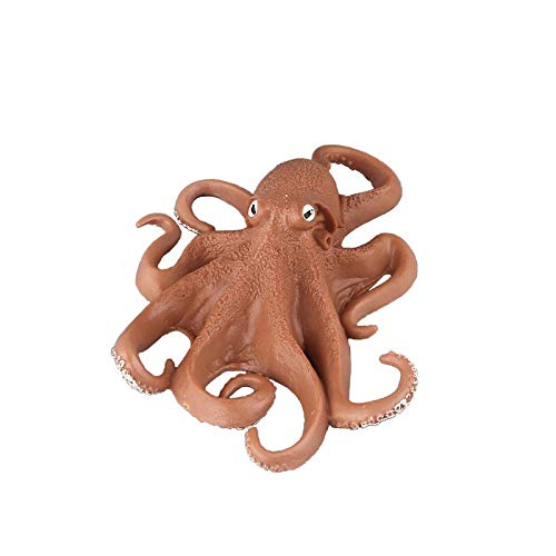 (Warmtree Simulated Sea Life Figurines Realistic Plastic Model Ocean Animals Action Figure for Kids' Collection Science Educational Toy (Octopus),)