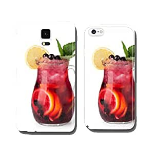 Glasses of fruit drinks with ice cubes cell phone cover case iPhone6 Plus