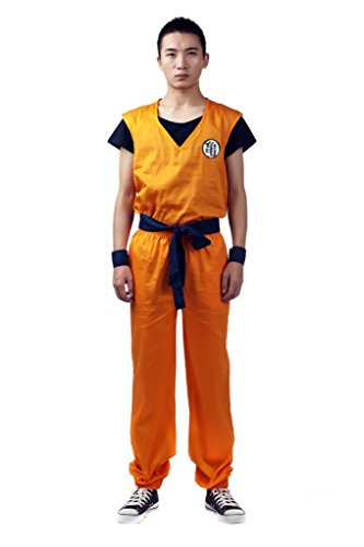 [Mtxc Men's Dragon Ball Cosplay Costume Master Roshi Kung Fu Outfit Size Small Orange] (Master Roshi Costume)