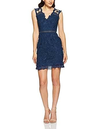 Cooper St Women's Lustrous Lace V Neck Dress, Navy, 10