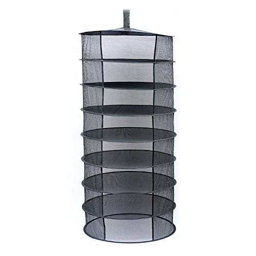 Herb Drying Rack Drying Net 2ft 8 Layer Black Mesh Hanging Tray (2FT-8-Layer) by BSTPART (Image #4)