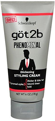 - Got2b PhenoMENal Thickening Styling Cream, 6 OZ