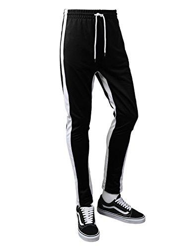 URBANCREWS Mens Hipster Hip Hop Athletic Sports Running Track Drawstring Pants