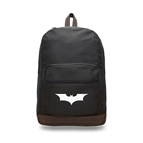 - Batman Begins The Dark Knight Backpack with Leather Bottom Black