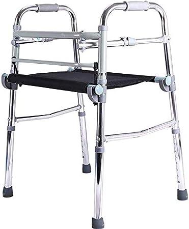 FEE-ZC Walker Plegable de Uso General para la Salud con cojín de Tela Oxford, Marco Ligero de Aluminio para Caminar para Personas Mayores, Adultos, niños, con un tamaño de hasta 200 LB