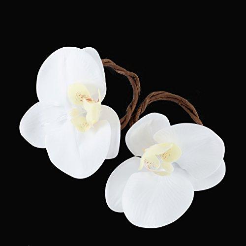 www.Beadingsupplys.com Set of Six Wedding Napkin Rings, Flower Linen Napkin Rings, Rustic Table Décor (Rings Napkin Flower)