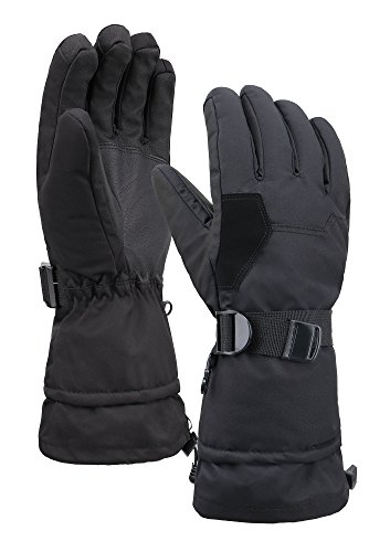 Livingston Mens Deluxe Thinsulate Winter Sports Gloves, Black, Large