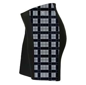 Black Plaid Shirt Triatlon Shorts for Women - Size XS