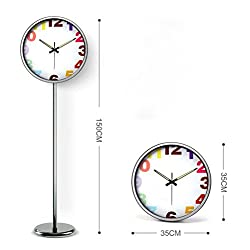 ZHONGBIAOBIAO Living Room Site Clock Creative Personality Landing Clock Silent Digital Clock Luminous Station Clock-b