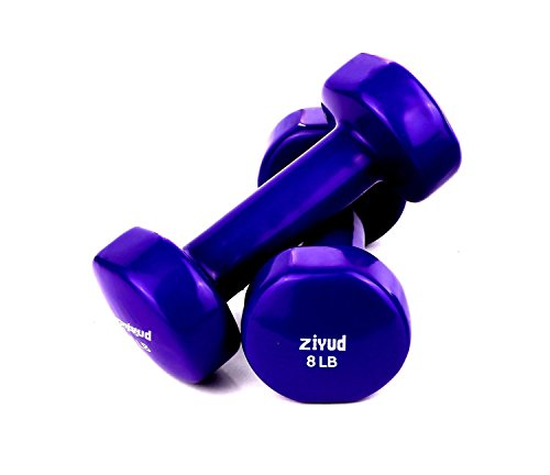 Set of 2 Vinyl Coated Dumbbells, With A Great Non Slip Grip, Choose You Weight Size
