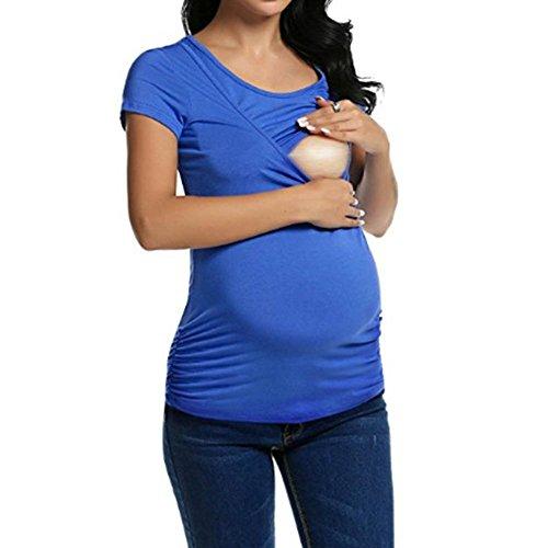 Abbigliamento 2 da Donna Keephen Allattamento per Blu YRdq6YBwn5