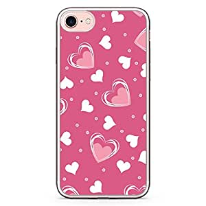 Loud Universe iPhone 7 Transparent Edge Case - Valentines Gift Love Heart Pattern