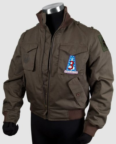 [Battlestar Galactica Lee Adama's Bomber Jacket, Large] (Ready For Action Military Costume)