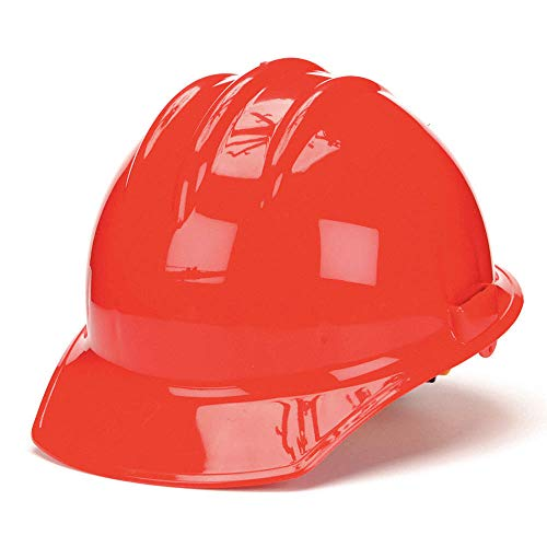 Bullard® Red Class E or G Type I Classic C30 3000 Series HDPE Cap Style Hard Hat With 6-Point Ratchet Suspension, Accessory Slots, Chin Strap Attachment And Absorbent Cotton Brow Pad