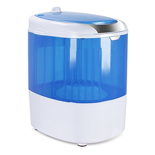 DELLA Portable Washing Machine Top Loader Small Compact Mini Washer 6.6 LBS Load Capacity, Blue