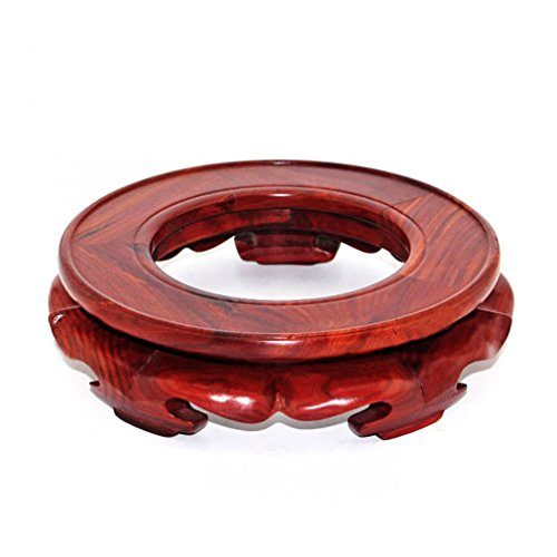 GOLDY WENDY Rosewood Circular Display Stand with Hole in Center