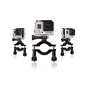 GoPro Bar Mounting Kit (3 Mounts) by ProGearX   Compatible With All GoPro HERO Cameras
