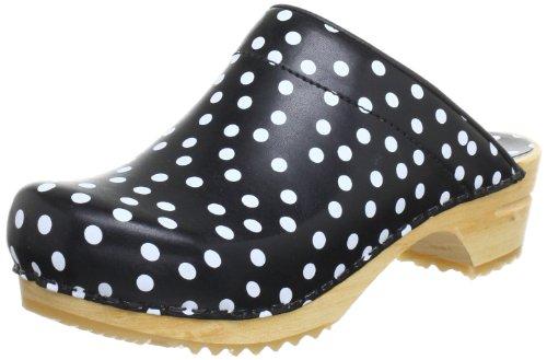 Sanita Inger Spotty' Open Wooden Clogs black spotty 40 M EU