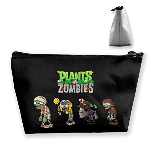Women's Travel Cosmetic Bags Small Makeup Clutch Pouch Plants Vs Zombies -