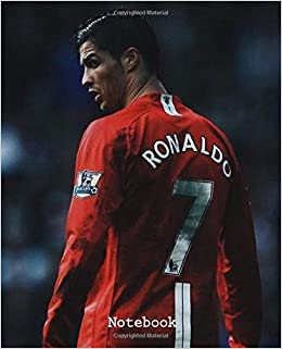 Notebook Inspirational Drawing Photo Art Cristiano Ronaldo Cr7 Soft Glossy Wide Ruled Journal With Ruled Lined Paper For Taking Notes Writing School Kids Boys Football Soccer Lover Fisher Marko 9781691258208 Amazon Com