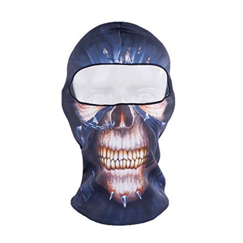 [Rioriva balaclava half mask Outdoor Cycling Ski Balaclava Neck Hood Full Face Mask Hat Beanie Animal,One] (Moustache Halloween)