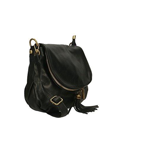 italie 28x22x5 Aren fabriqué cuir pour d'épaule Cm femme sac en Noir véritable en OwzO4vq