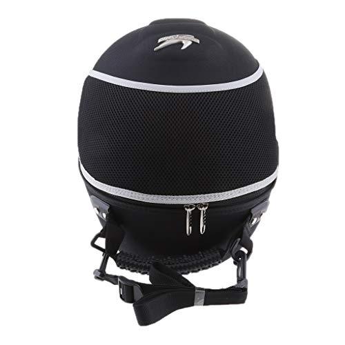 Flameer Travel Tail Helmet Bag Motorcycle Handbag Luggage Carrier Case - White Line S