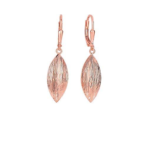 Argent avec rose Finition 9,3x 39mm Diamant Brillant Cut 6Marquise Forme Dormeuses Boucles d'oreilles