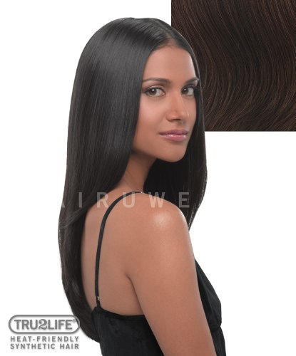 Tru2Life Styleable Extensions - 22 Inch Straight Clip In Extension - R6/30H-Chocolate Copper/Medium Red Brown