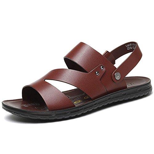 Brown Hombres Sandalias Zapatos Ocasionales De Zapatillas Beach Los Verano qw8Zf