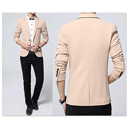 5xl Fit Costume S Taille Élégantes Homme Fête Dîner Beige Blazer Slim Smoking Vestes Kindoyo De OCpxw
