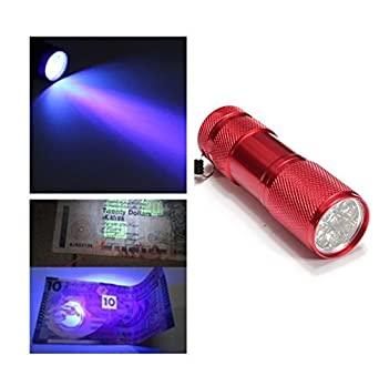 LED Taschenlampe 9 LEDs Aluminium violett