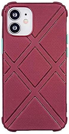 جراب ممتص للصدمات لهاتف Apple Iphone 12 Pro Max، حماية الدرع رباعي الزوايا ضد السقوط لهاتف Iphone 11 Pro Max Shell Xs Xr X 7 8 Plus 12 Mini SE 2020 (لهاتف iphone 8، أحمر)