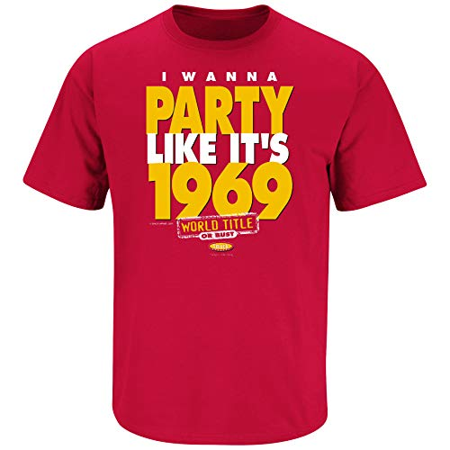 Kansas City Football Fans. I Wanna Party Like It's 1969 Red T Shirt (Sm-5X) (Short Sleeve, X-Large)]()