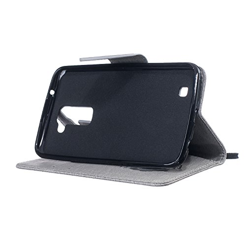 Para LG K10 (5,3 pulgadas) Cáscara ZeWoo® Carcasa y Funda de PU Piel - BF063 / life hope freedom (azul profundo) BF062