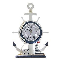 Non Ticking 13 Silent Nautical Desk Clock