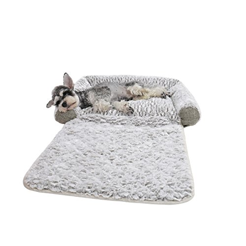 PAWZ Road Dog Bed, 3 in 1 Pet Mat Cushion for Small Dogs and Cats-Snuggly Orthopedic Sleeper with More Filling on 3 Sides-Nonslip and Waterproof Bottom M