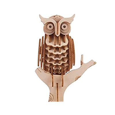 Owl 3D Wooden Puzzle: Toys & Games
