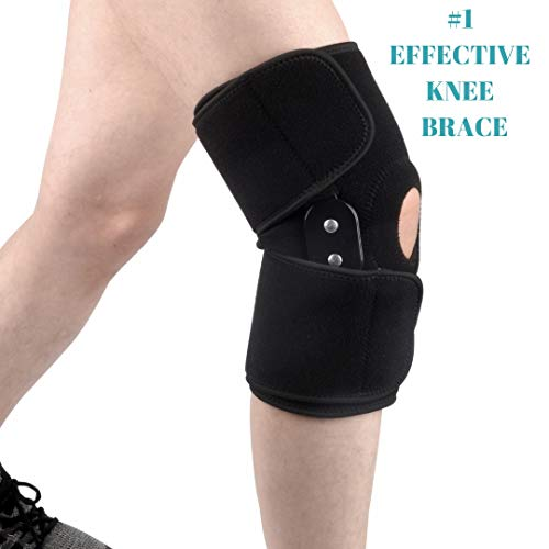 5303e0ec6d MEDIZED Adjustable Double Metal and Hinged Knee Brace Support Protection  Arthritis Sports Injury Open Patella Gym