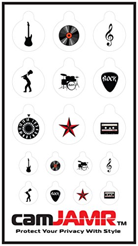 Webcam Cover / Stickers for Online Privacy. Fits Laptop, Tablet, Cell Phone, Smart Tv, Xbox and More! camJAMR Rocker Pack (Includes 12 Webcam Covers)