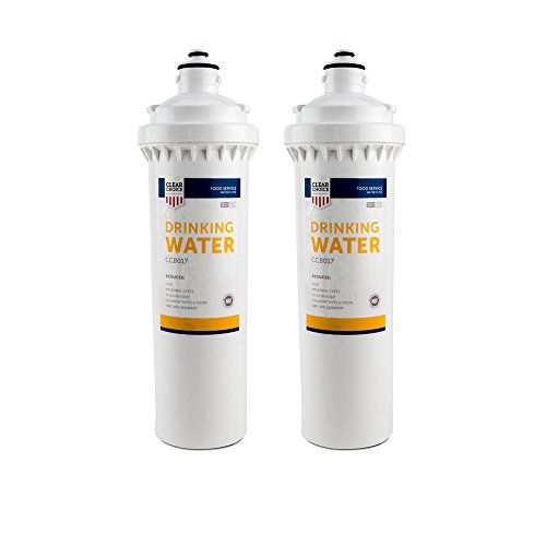 Clear Choice Drinking Water Filtration System Replacement Cartridge for Everpure EV9270-74 EV9611-16 EV9612-11 EV9612-16 EV9635-06 H-104 Also Compatible with Nu Calgon 9635-06, 2-Pack by Clear Choice